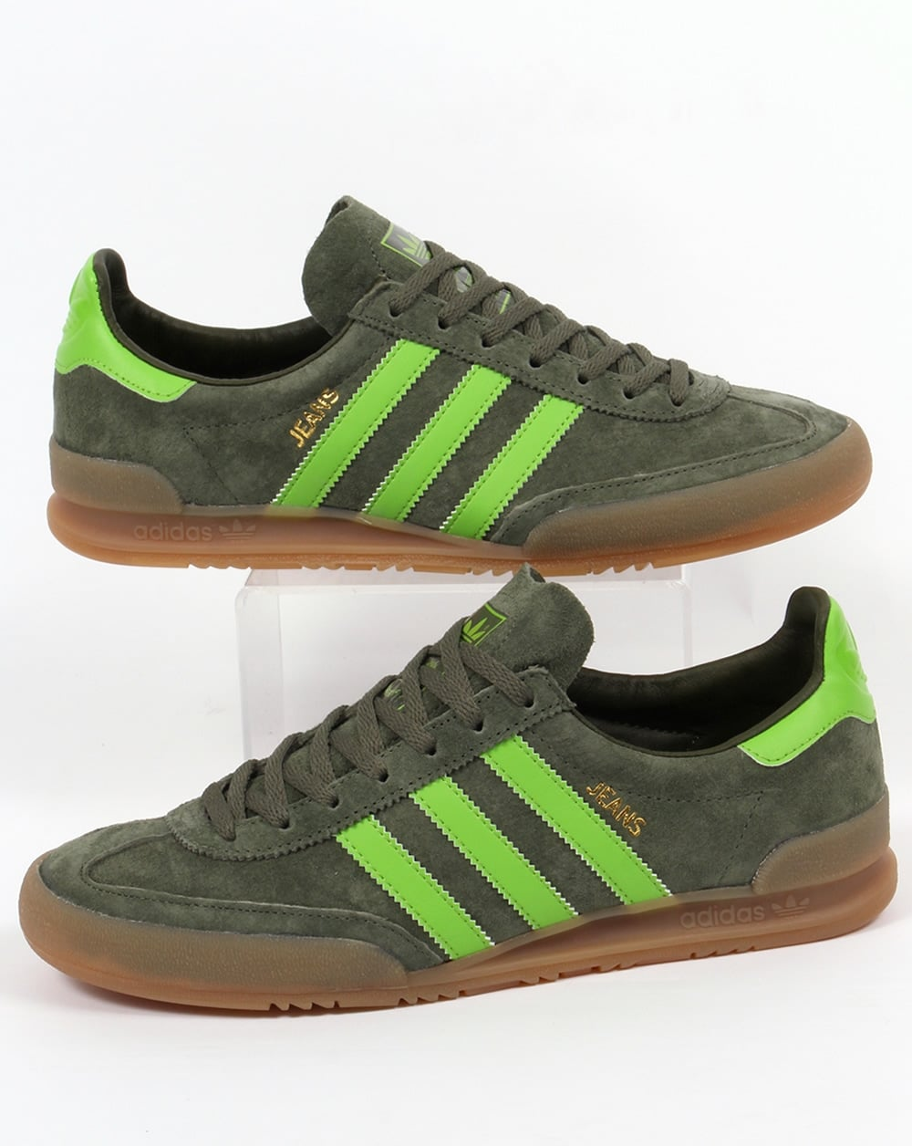 Adidas Jeans Trainers Green, Base