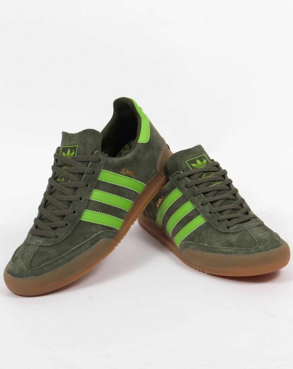 adidas green trainers