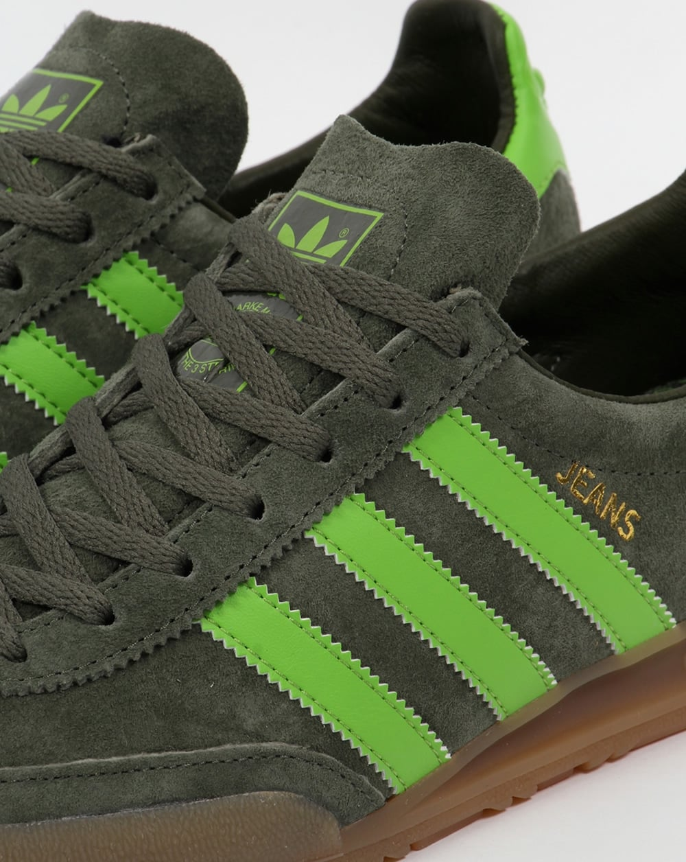 adidas jeans trainers green  base  suede originals  mens