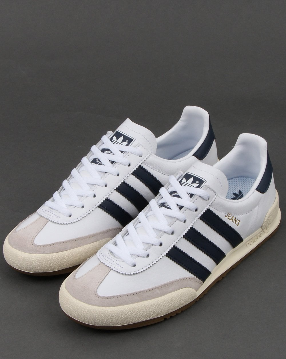 Adidas Jeans Trainers Whitenavy
