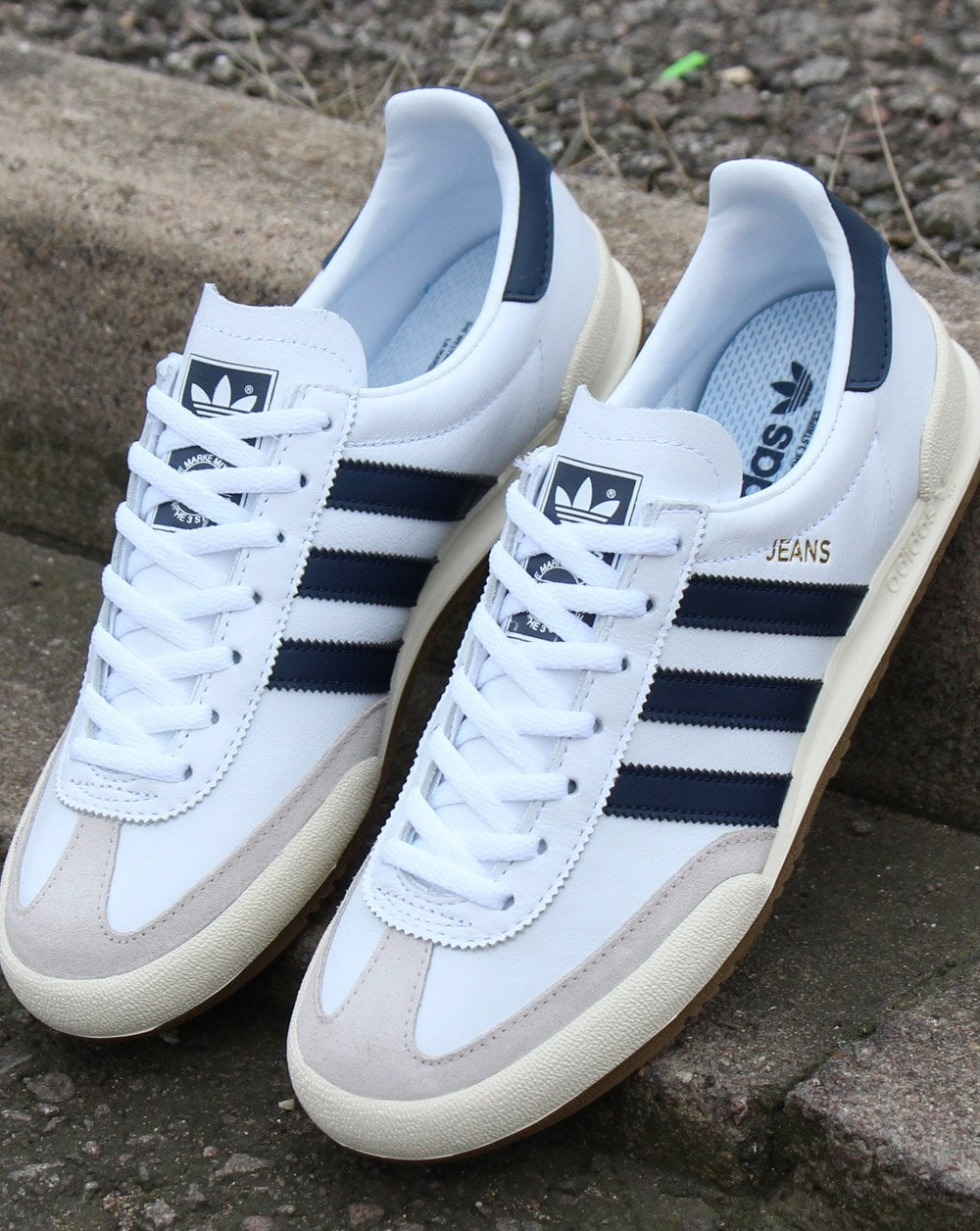 Adidas Jeans Trainers White/navy