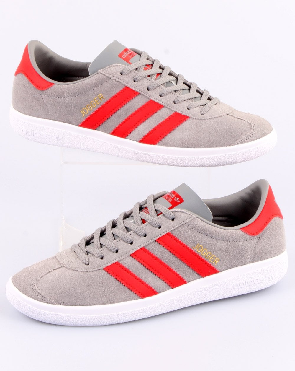Adidas Jogger Trainers Grey/Red