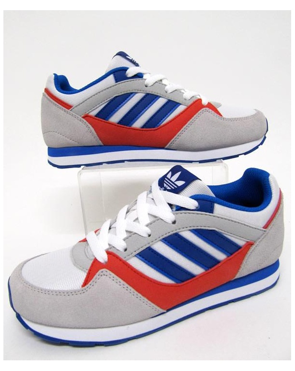 Adidas Junior Zx 100 Trainers White/royal Blue/red