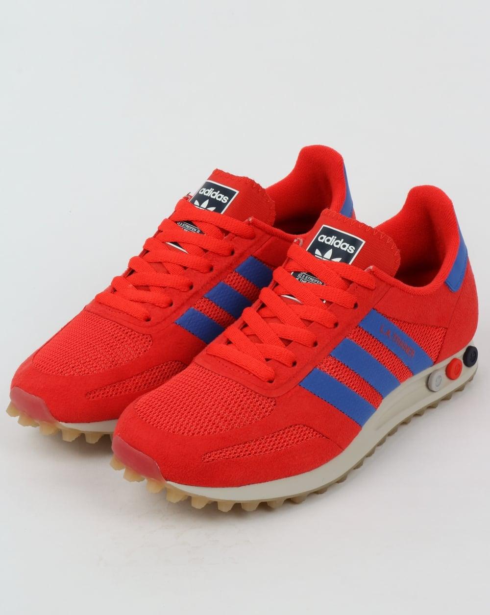 78a587189e4a2 adidas Trainers Adidas LA OG Trainer Hi Res Red Hi Res Blue