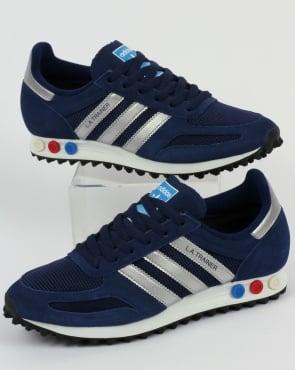 adidas Trainers Adidas LA Trainer Dark Blue/Silver/Grey