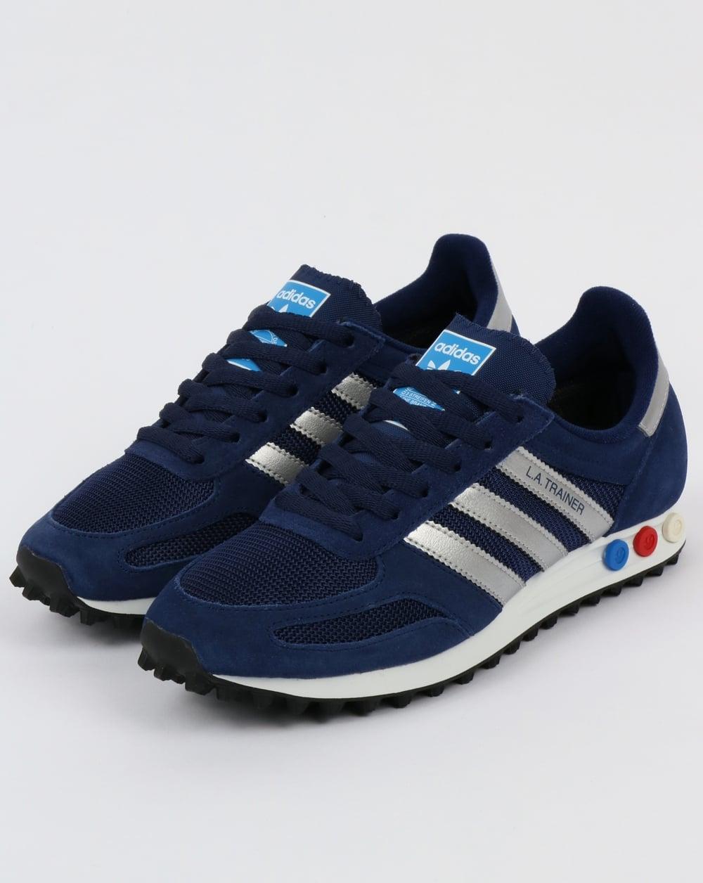 new concept 8ce66 9c19a adidas Trainers Adidas LA Trainer Dark BlueSilverGrey