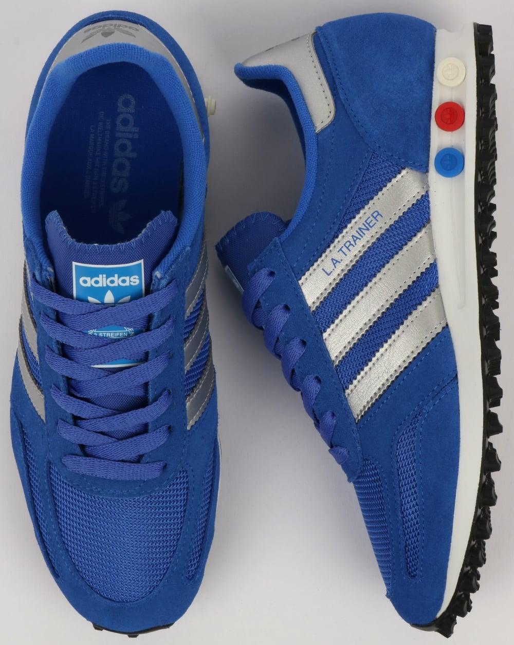 ea173ff881636 Adidas La Trainer Hi Res Blue Silver