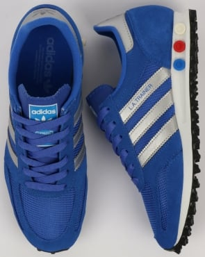 adidas Trainers Adidas LA Trainer Hi Res Blue/Silver