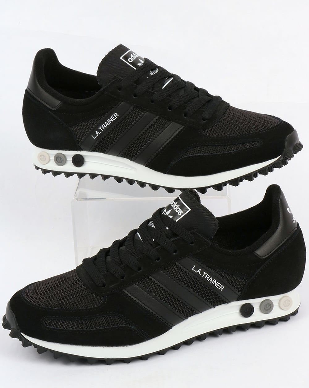 Ordenador portátil intelectual Ru  Adidas La Trainer Og Black/black/white,shoes,running,mens,originals