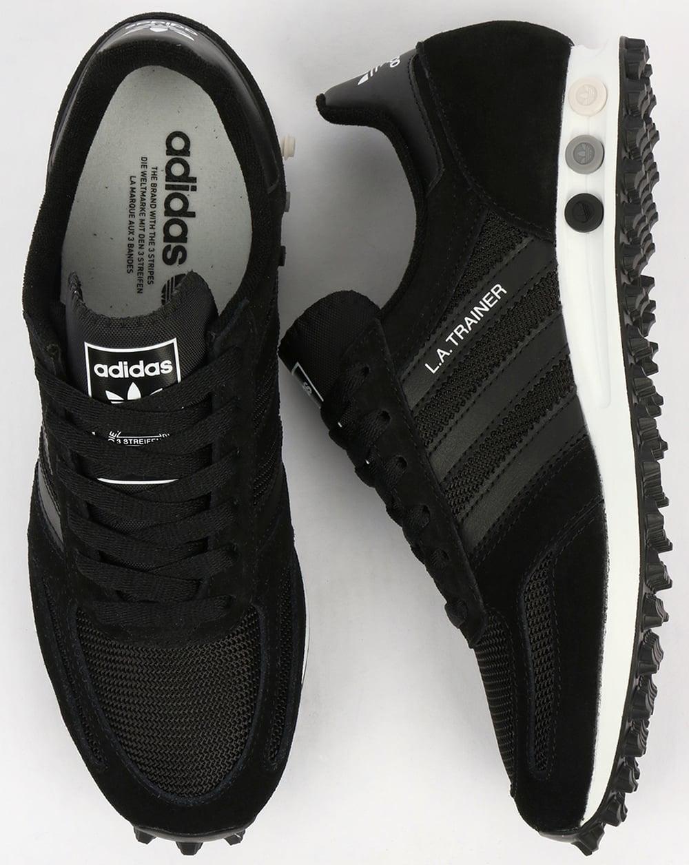 adidas la trainer og black black white shoes running mens. Black Bedroom Furniture Sets. Home Design Ideas