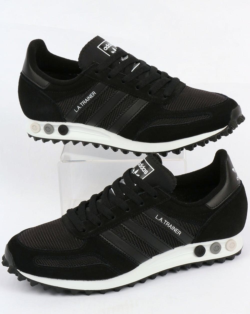 adidas la trainer og black black white shoes running mens originals. Black Bedroom Furniture Sets. Home Design Ideas