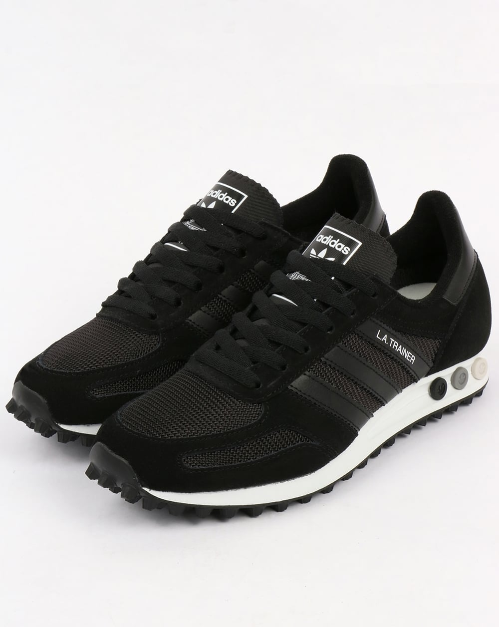 adidas la trainer og black black white shoes running mens. Black Bedroom Furniture Sets. Home Design Ideas