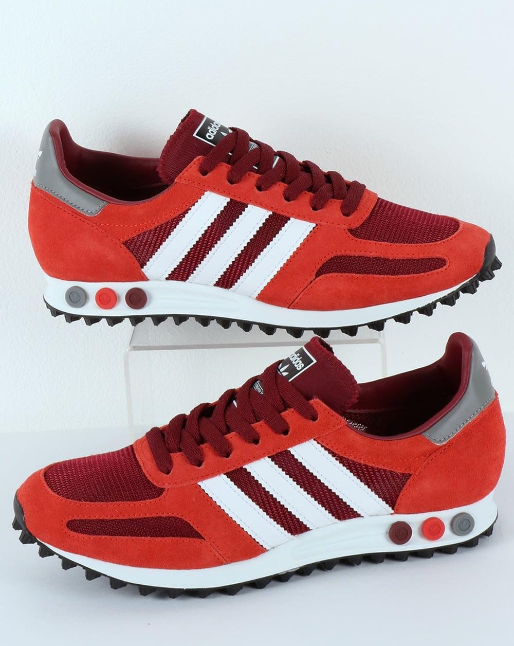 pretty nice b9880 7f2bb adidas Trainers Adidas LA Trainer OG Burgundy Red