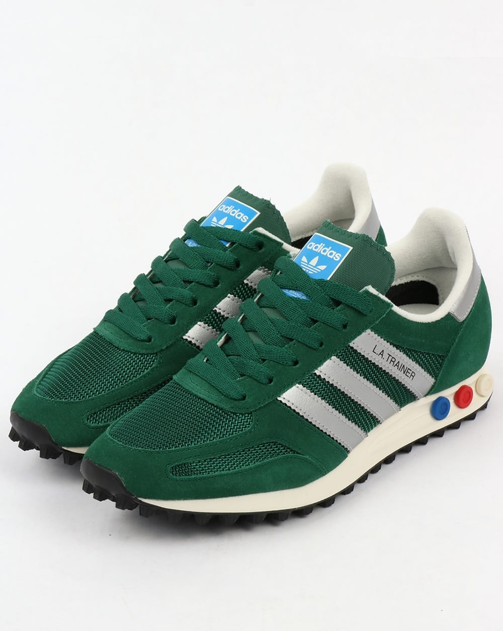 4f5f4a6ce1ee adidas Trainers Adidas La Trainer Og Green silver