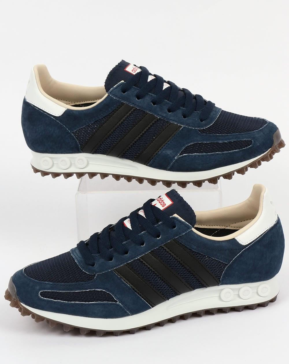adidas la trainer og navy black shoes original runner mens. Black Bedroom Furniture Sets. Home Design Ideas