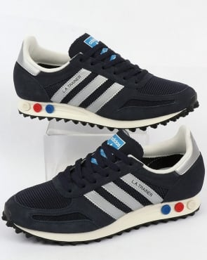 adidas Trainers Adidas La Trainer Og Navy/silver