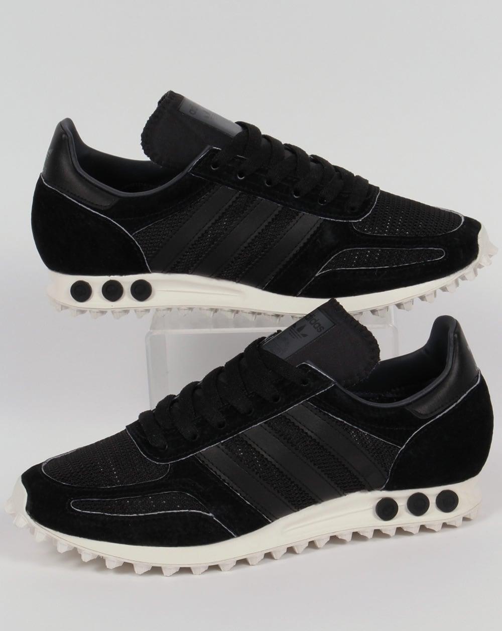 adidas la trainer og trainers black black grey mens. Black Bedroom Furniture Sets. Home Design Ideas