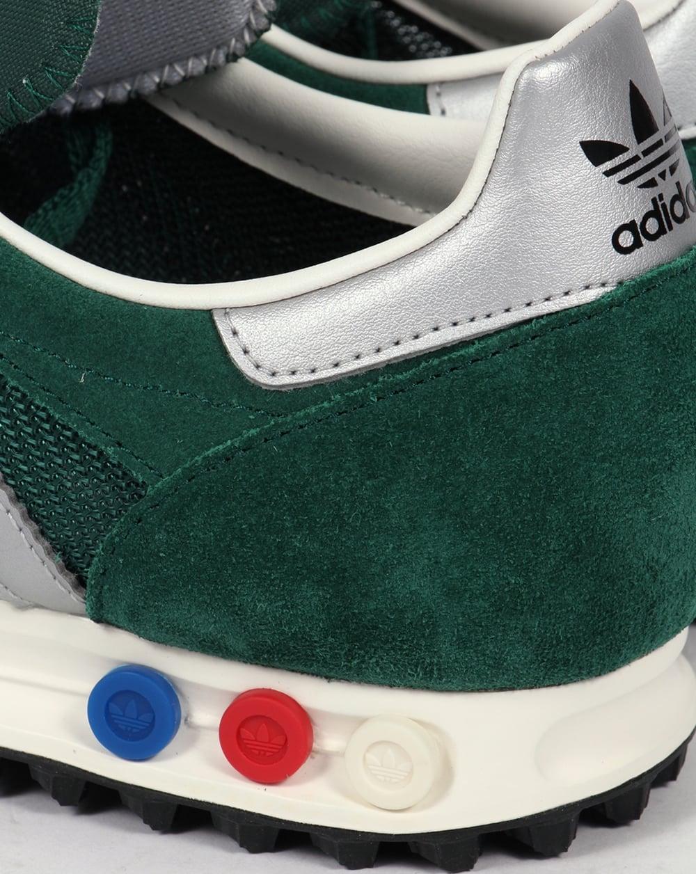 adidas la trainer og trainers green silver sneakers. Black Bedroom Furniture Sets. Home Design Ideas