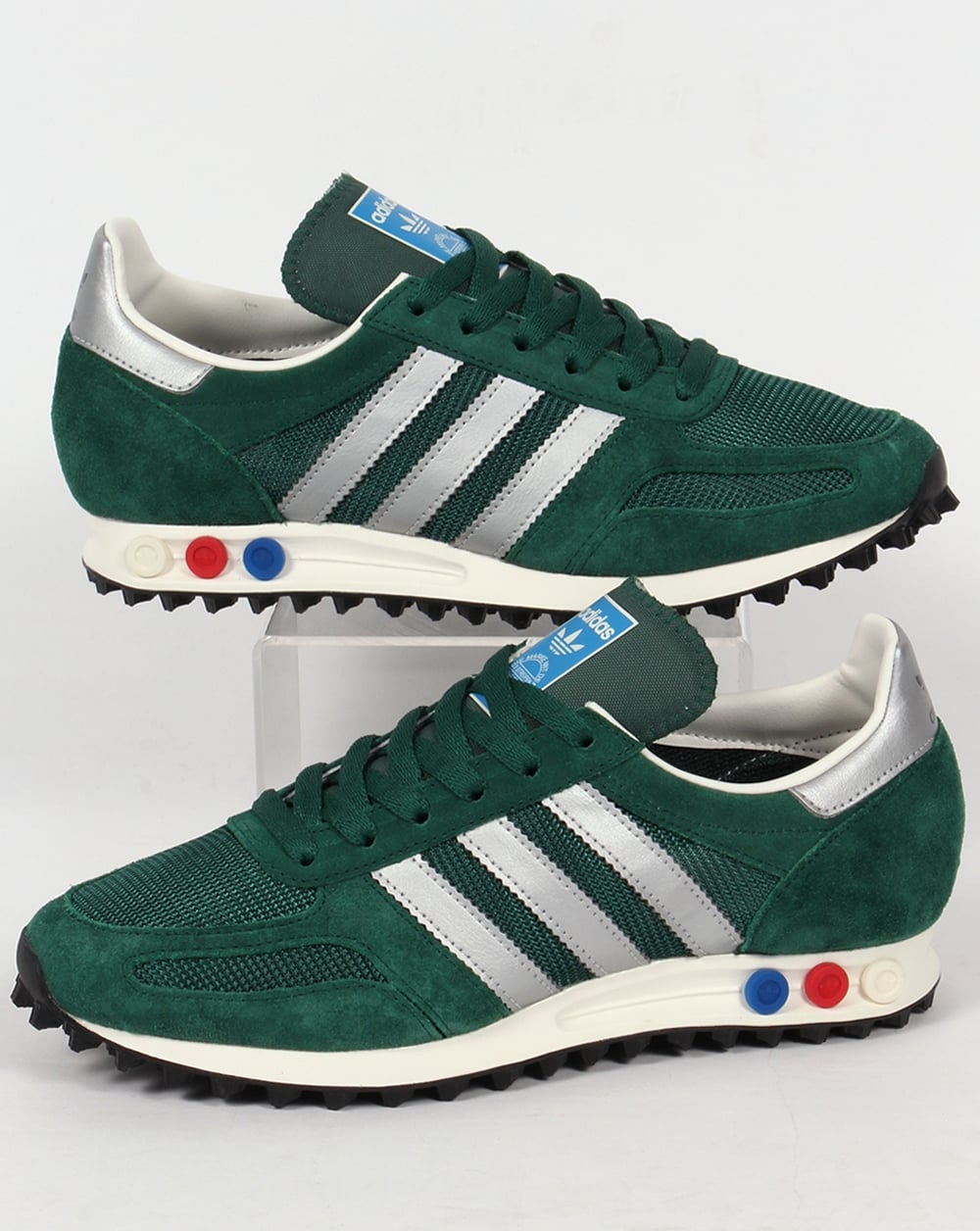 adidas la trainer og trainers green silver sneakers. Black Bedroom Furniture Sets. Home Design Ideas