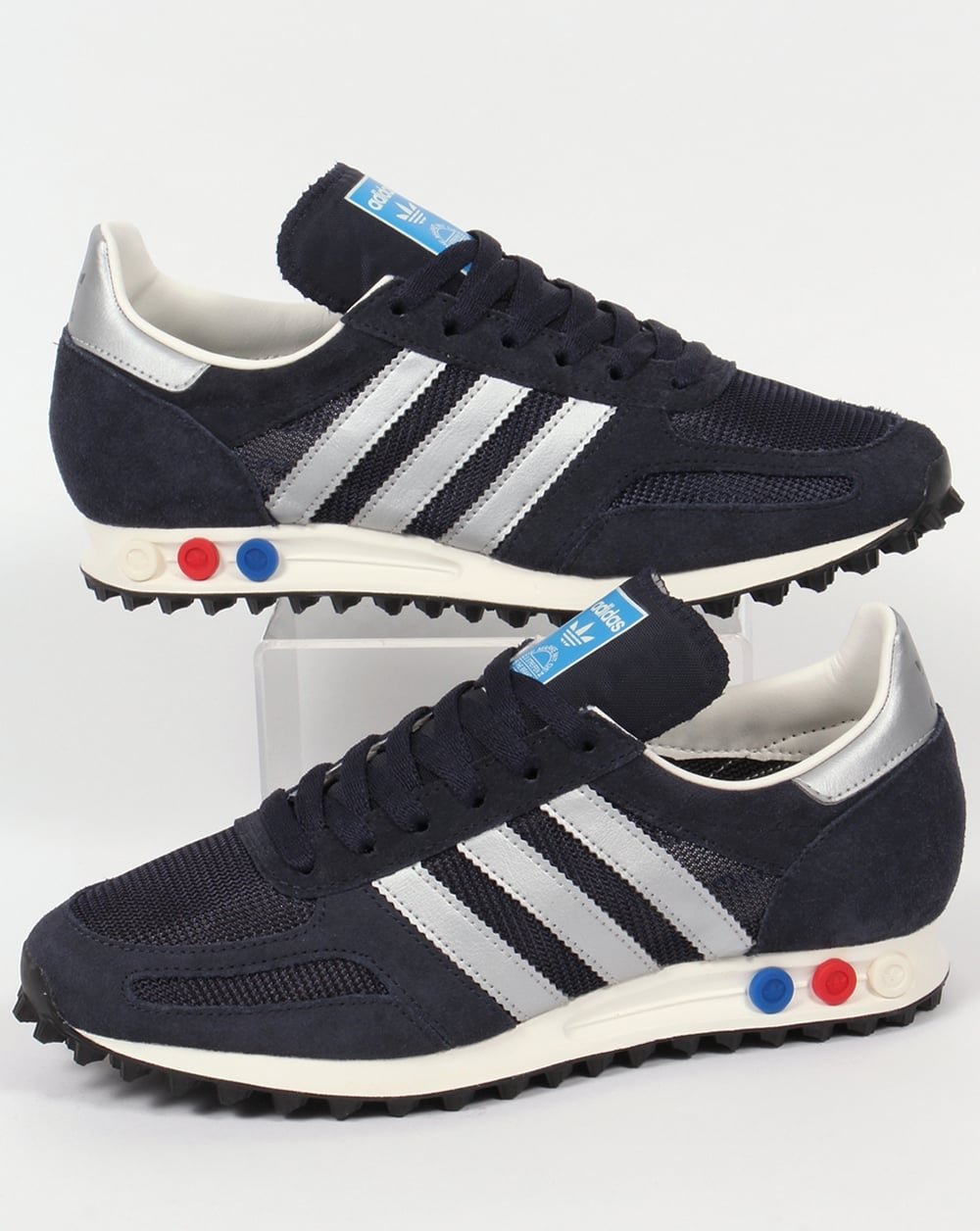 adidas la trainer og trainers navy silver shoes original runner mens. Black Bedroom Furniture Sets. Home Design Ideas