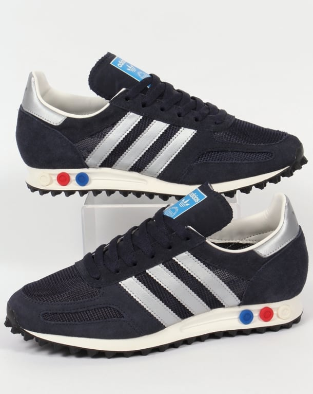 Adidas Trainers Adidas La Trainer Og Trainers Navy/silver