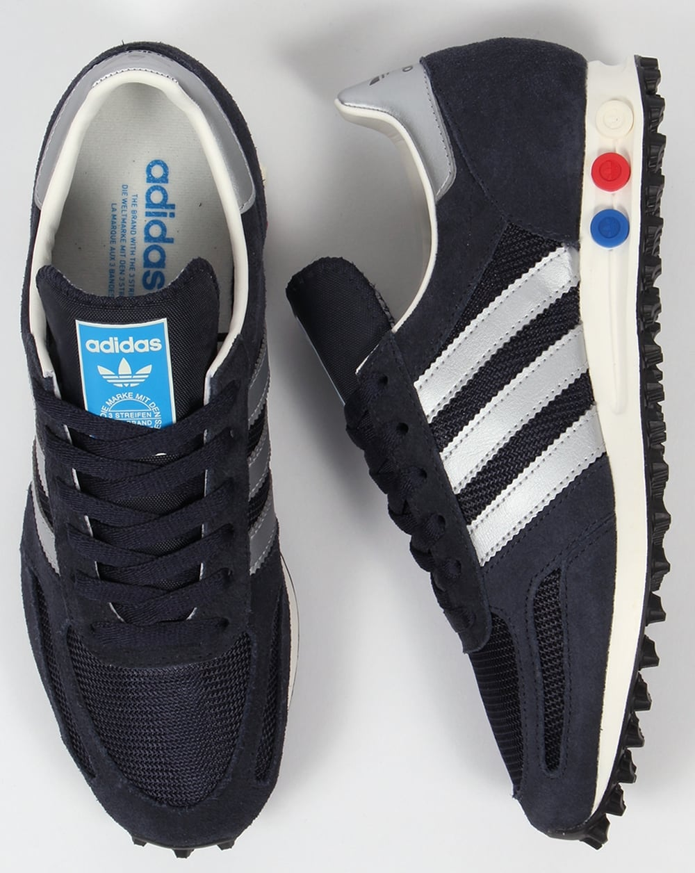 adidas la trainer og trainers navy silver shoes original. Black Bedroom Furniture Sets. Home Design Ideas