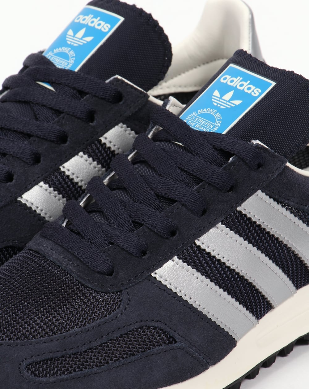 best service 4170b 02888 Adidas LA Trainer OG Trainers Navy Silver