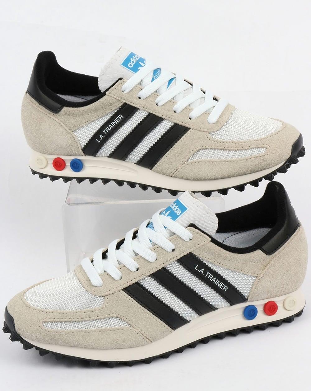 adidas la trainer og vintage white black original runner shoes mens. Black Bedroom Furniture Sets. Home Design Ideas