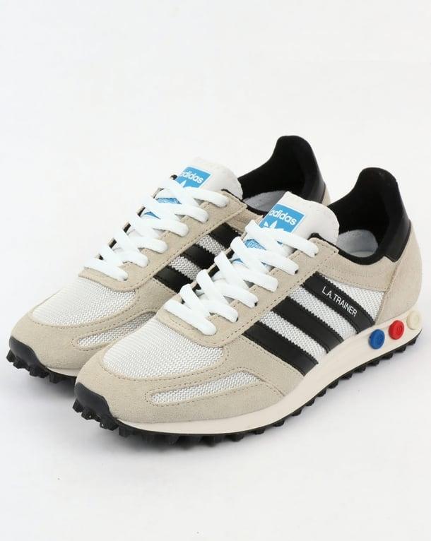promo code d2457 ee20c adidas la trainer og vintage white black original runner shoes mens