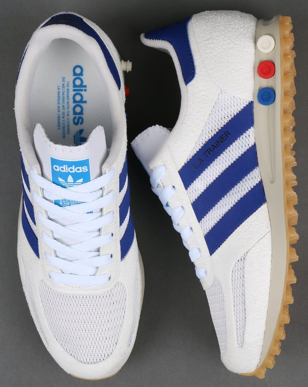 buy popular 8364f f7a28 Adidas La Trainer OG Vintage WhiteMystery Ink original blue shoes