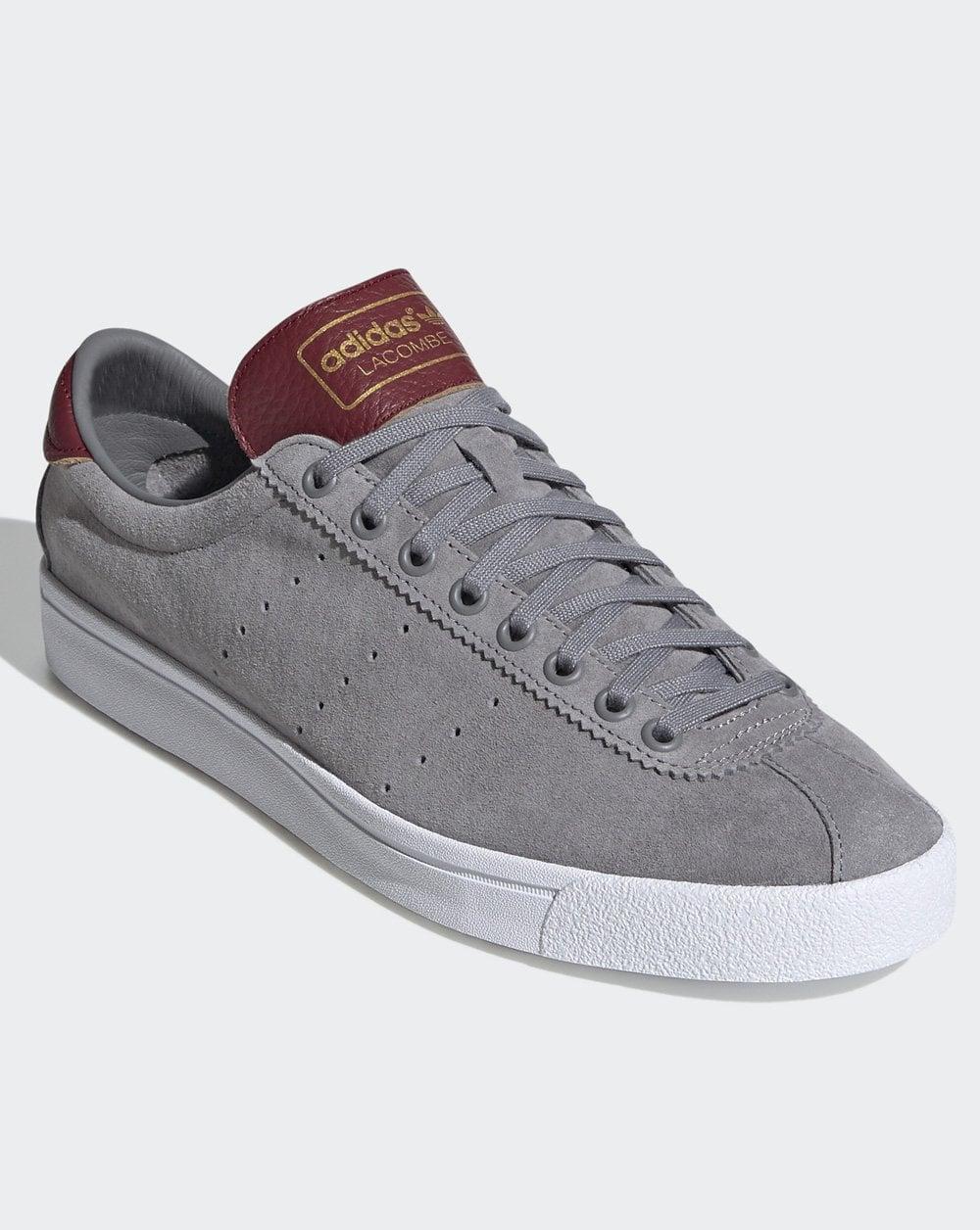 Adidas Lacombe Trainers Grey/Burgundy