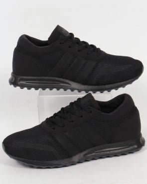 adidas Trainers Adidas Los Angeles Trainers Triple Black