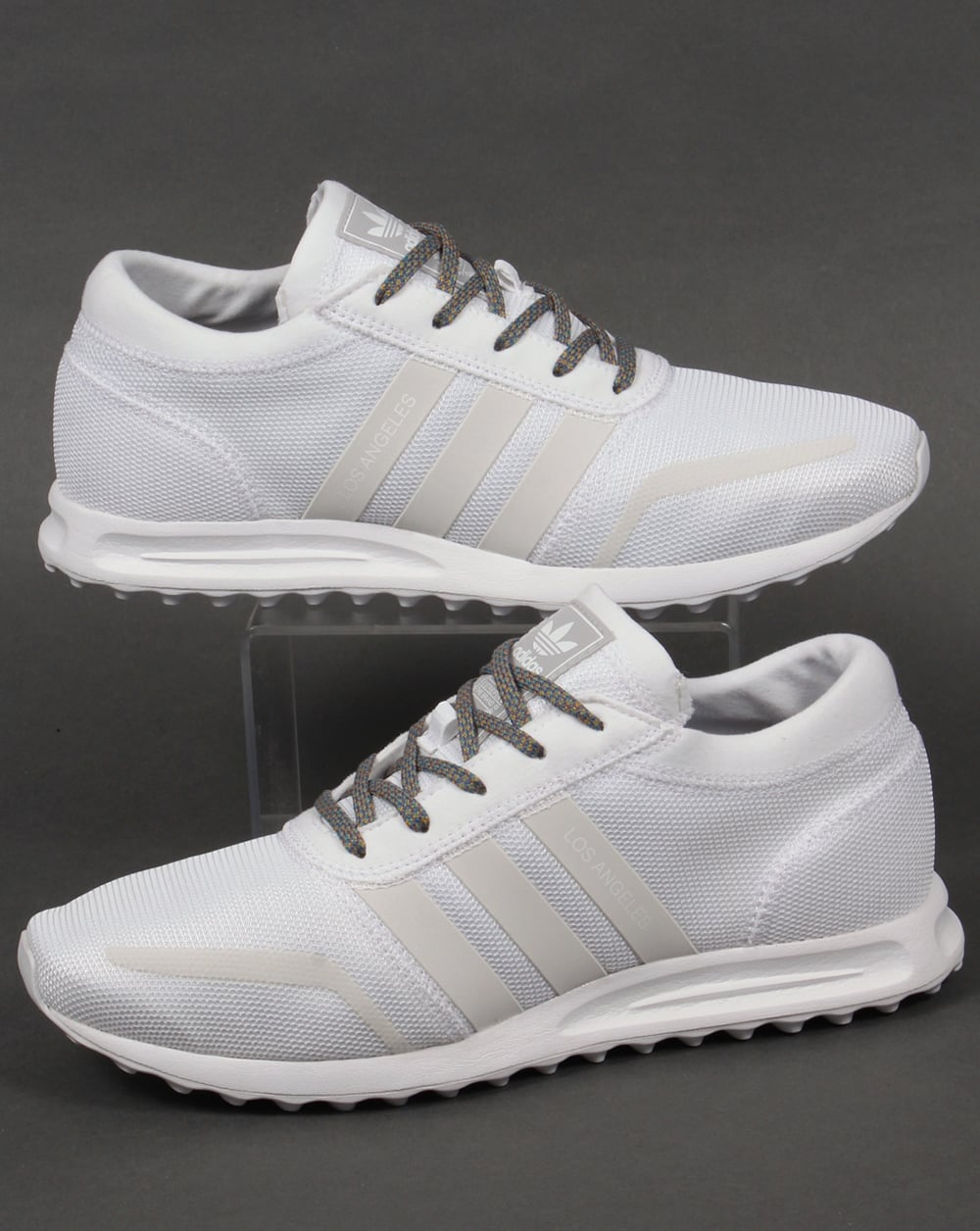Adidas Trainers Adidas Los Angeles Trainers WhiteWhiteGrey