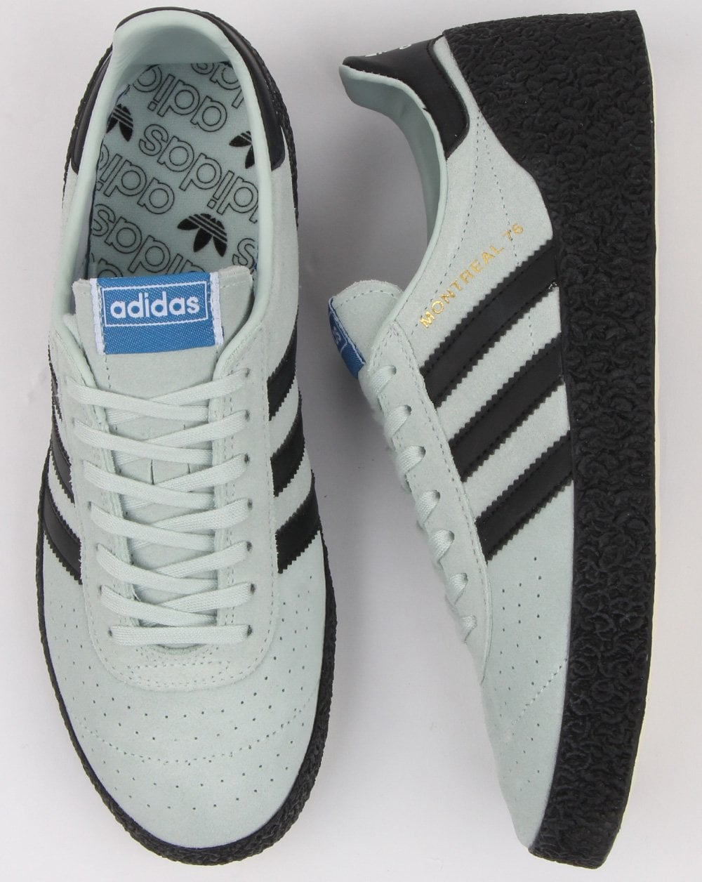 Adidas Montreal 76 Trainers Mint Green black 558bc203ee8e