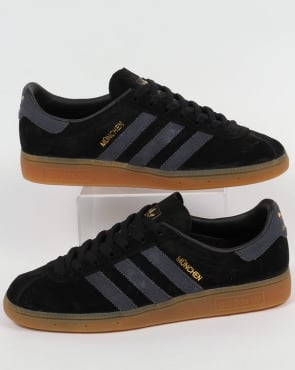 adidas Trainers Adidas Munchen Trainers Black/Dark Grey