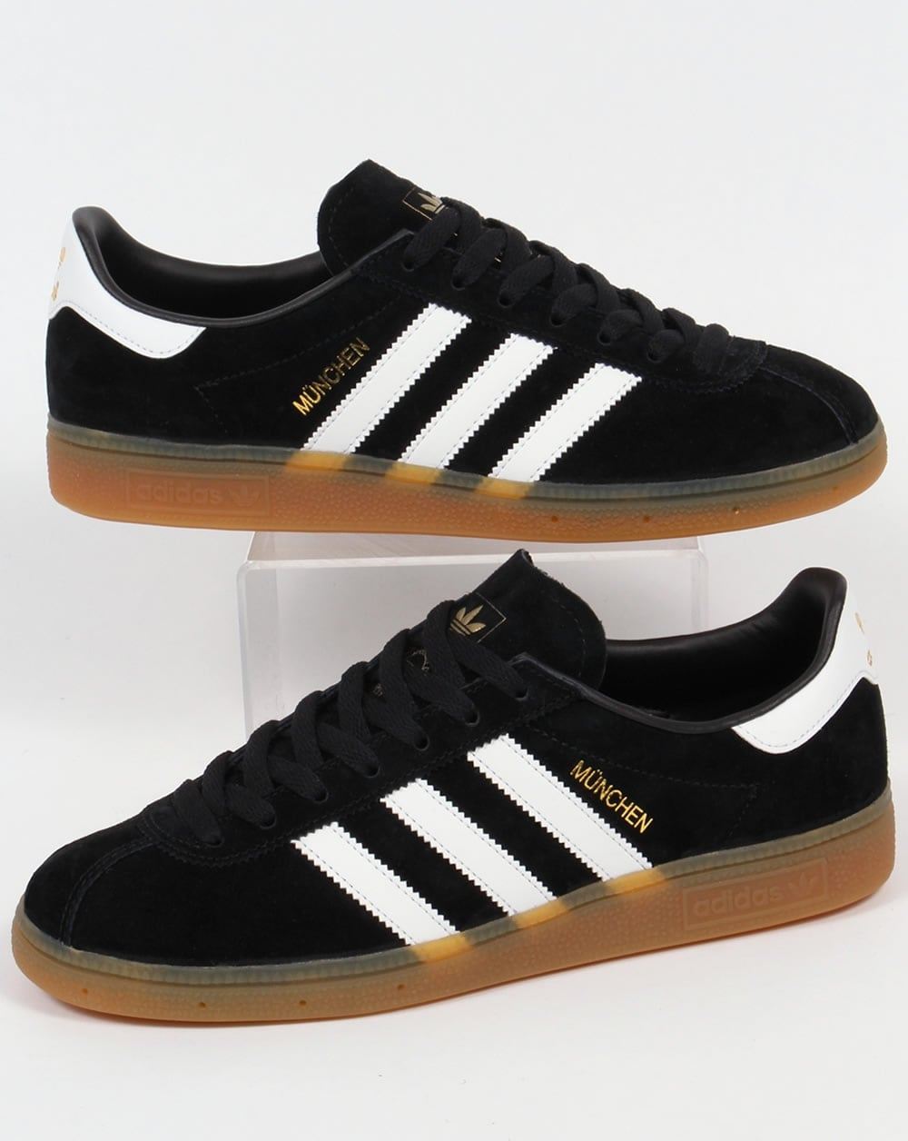 big sale 80329 61ecf adidas Trainers Adidas Munchen Trainers Black White
