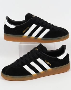 Adidas Munchen Trainers Black/White