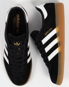 Adidas Trainers Adidas Munchen Trainers Black/White
