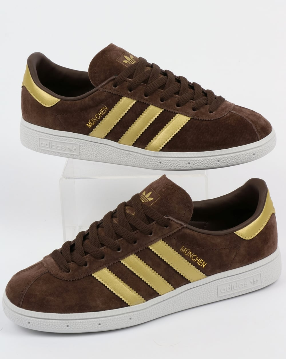 check out 71bcd 11edf adidas Trainers Adidas Munchen Trainers Brown Gold