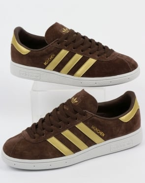 adidas Trainers Adidas Munchen Trainers Brown/Gold