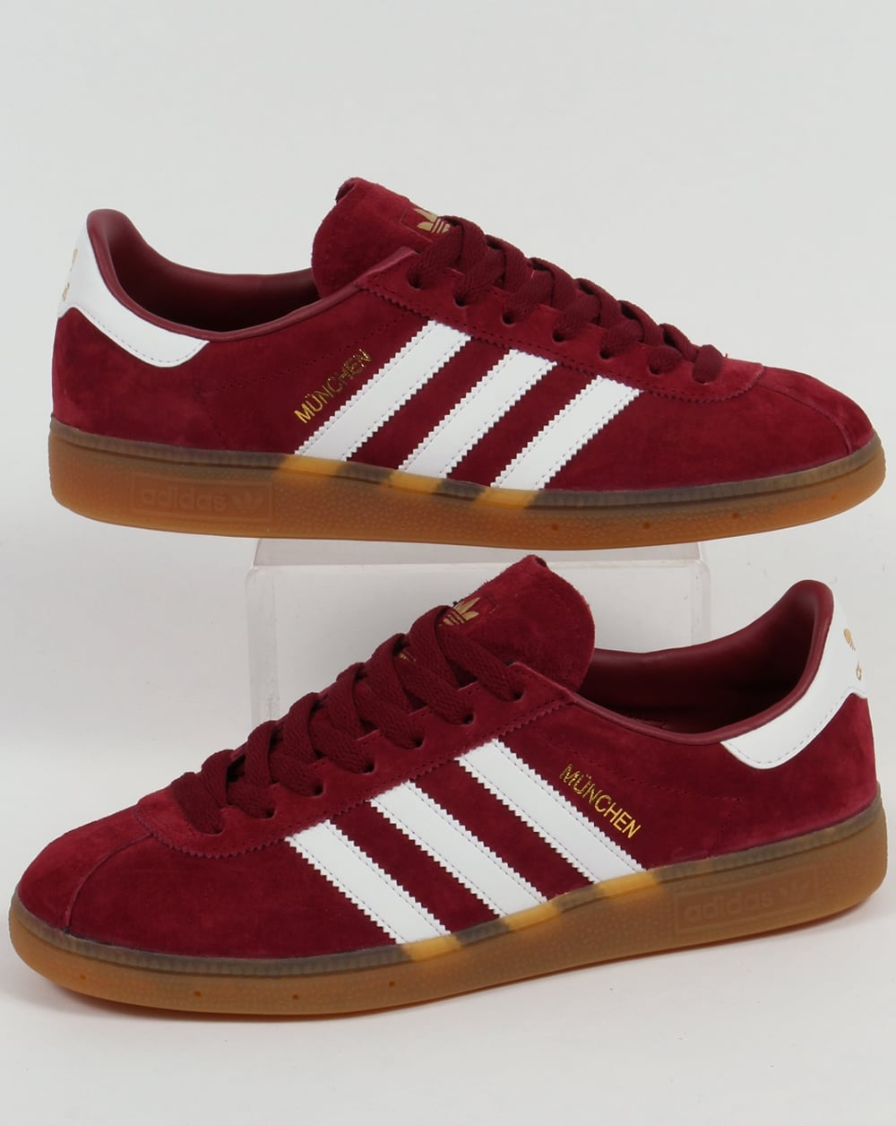 performance sportswear big sale exclusive deals Adidas Munchen Trainers Burgundy/White