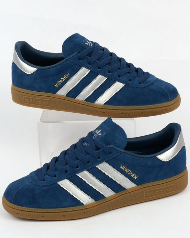Adidas Munchen Trainers Deep Blue /Silver
