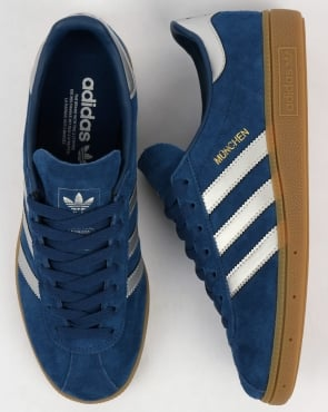 adidas Trainers Adidas Munchen Trainers Deep Blue /Silver
