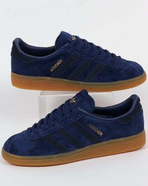Adidas Munchen Trainers Blue Navy Rich Originals Mens