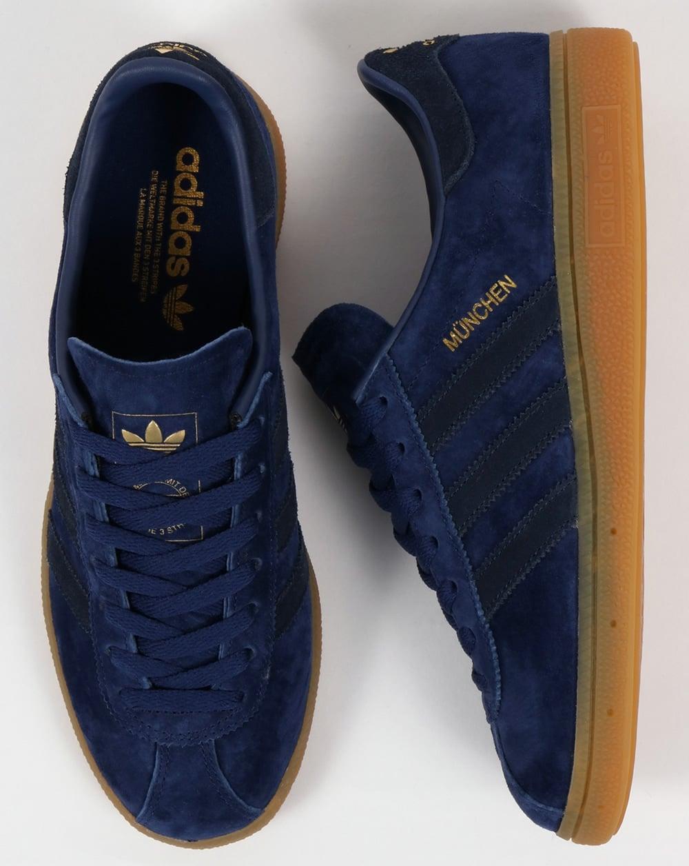 Adidas Munchen Trainers Blue, Navy, Rich, originals,mens