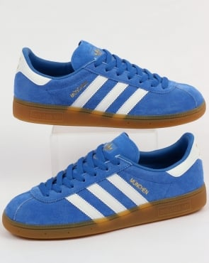 Adidas Munchen Trainers Royal Blue/White