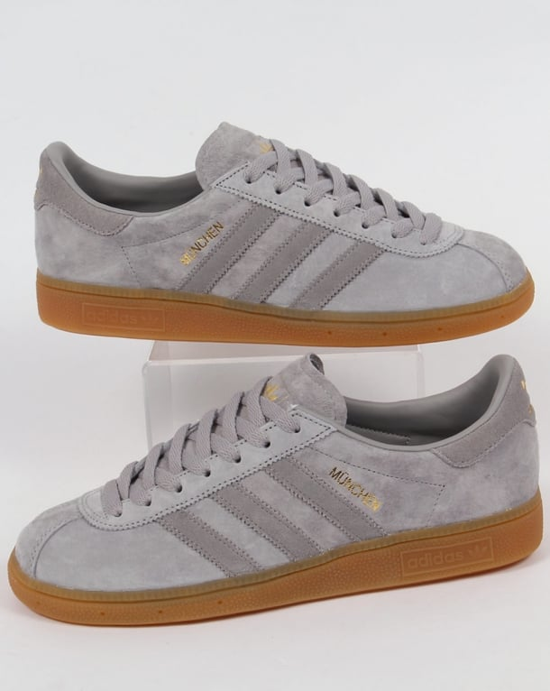 Adidas Trainers Adidas Munchen Trainers Silver Grey