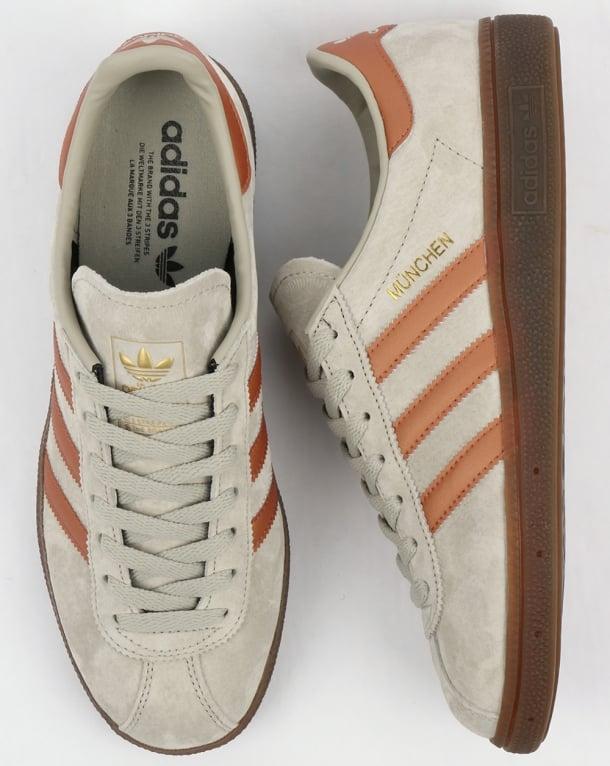 Adidas Munchen Trainers Soft Grey/Bronze
