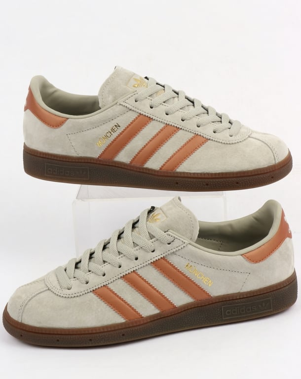 Adidas Munchen Trainers Soft Grey/Bronze