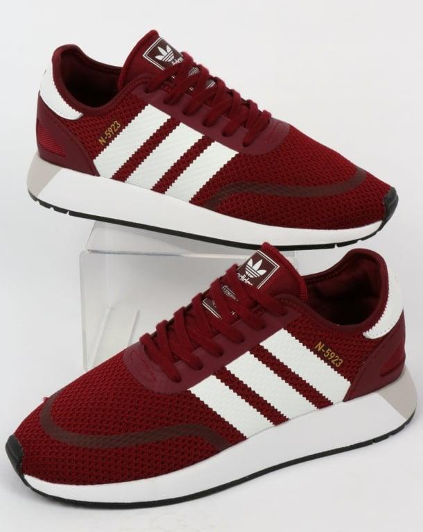 adidas burgundy trainers